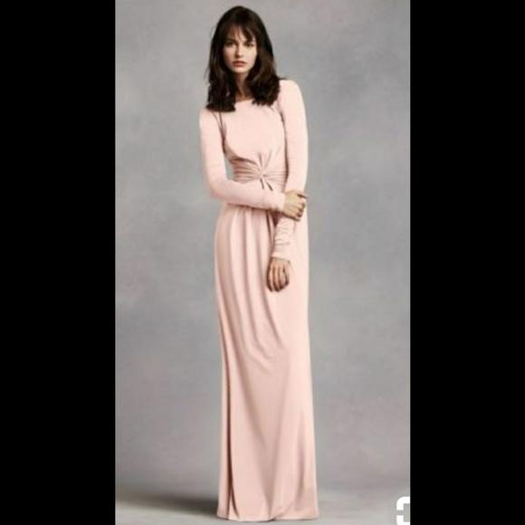 6fe5636716c Vera Wang Dresses | Long Sleeve Jersey Dress With V Back | Poshmark